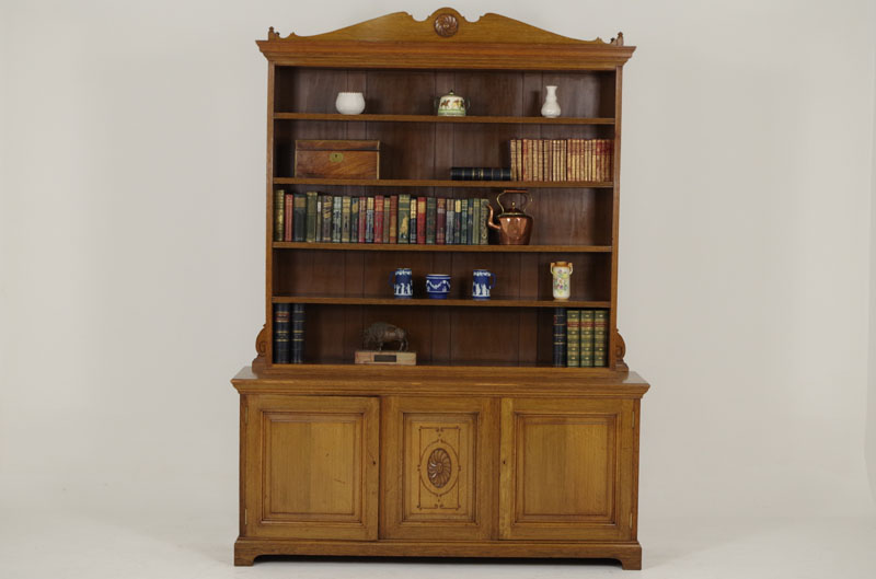 - Antique Oak Bookcase Victorian Display Cabinet Scotland 1870 B240