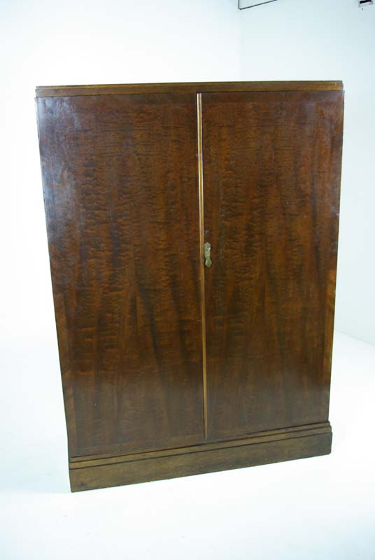 Compactom Armoire Art Deco Mahogany Wardrobe Fitted