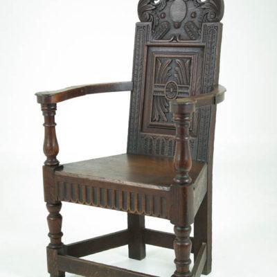 Vintage Carved Oak Chair