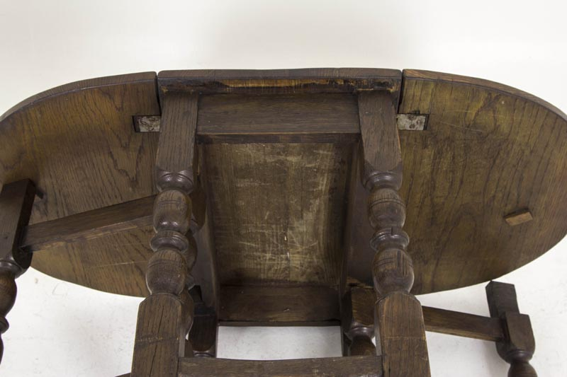 Petite Antique Gateleg Table Scottish Oak Drop Leaf Table B - Antique gateleg tables