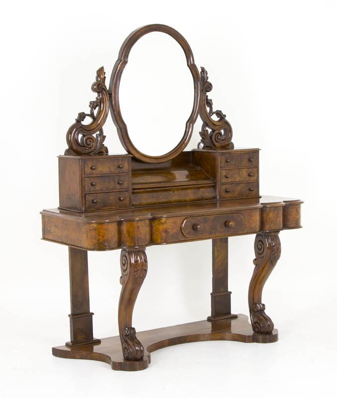 B628 Antique Scottish Victorian Burr Walnut Duchess  : 62802 from www.heatherbraeantiques.com size 678 x 800 jpeg 52kB