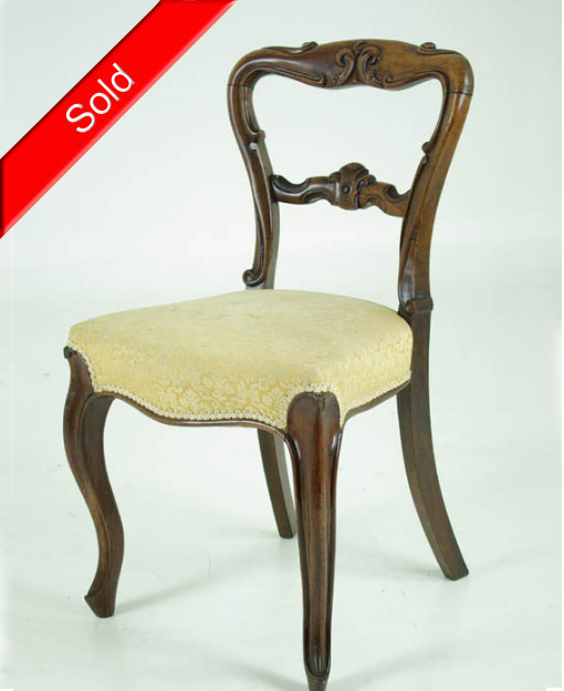B406 Antique Scottish Victorian Rosewood Chair - B406 Antique Scottish Victorian Rosewood Chair - Heatherbrae Antiques