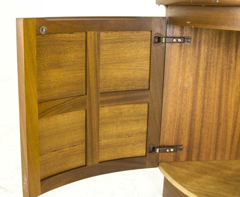 Mid Century Corner Cabinet: B440 Mid Century Modern Teak Corner Cabinet, Curio Cabinet