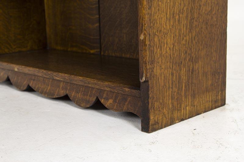 B480 Antique Scottish Tiger Oak Slant Front Drop Front
