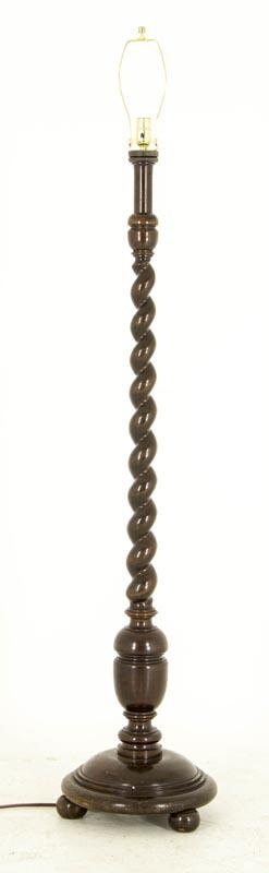 B516 Antique Scottish Solid Walnut Standing Barley Twist