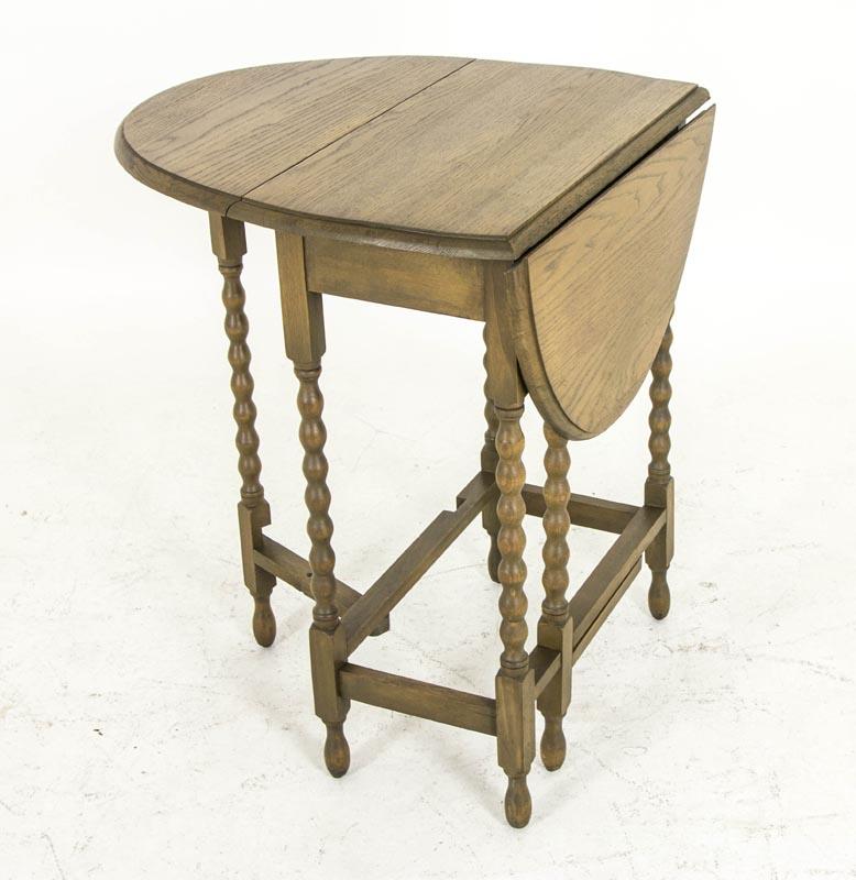 antique gateleg table scottish petite oak drop leaf bobbin legs b620 heatherbrae antiques