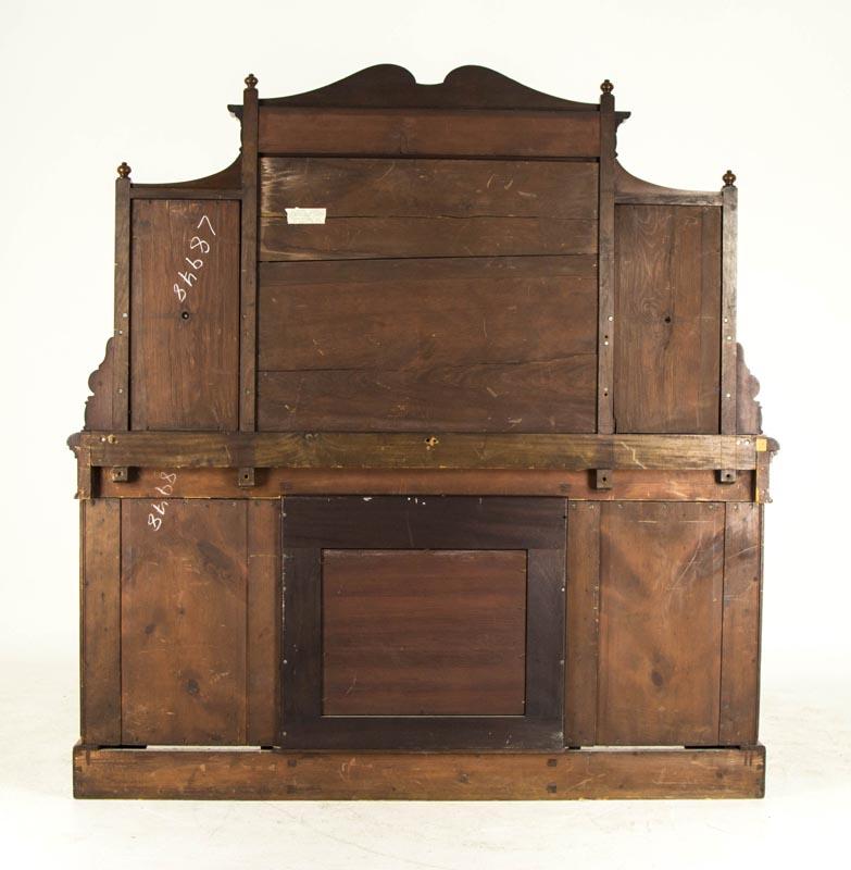 Antique Gany Credenza Scottish Victorian Sideboard Beveled Mirror Buffet B674