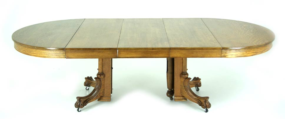 Conference Table Dining Table Round With Leaves Tiger Oak B - Conference table with leaves