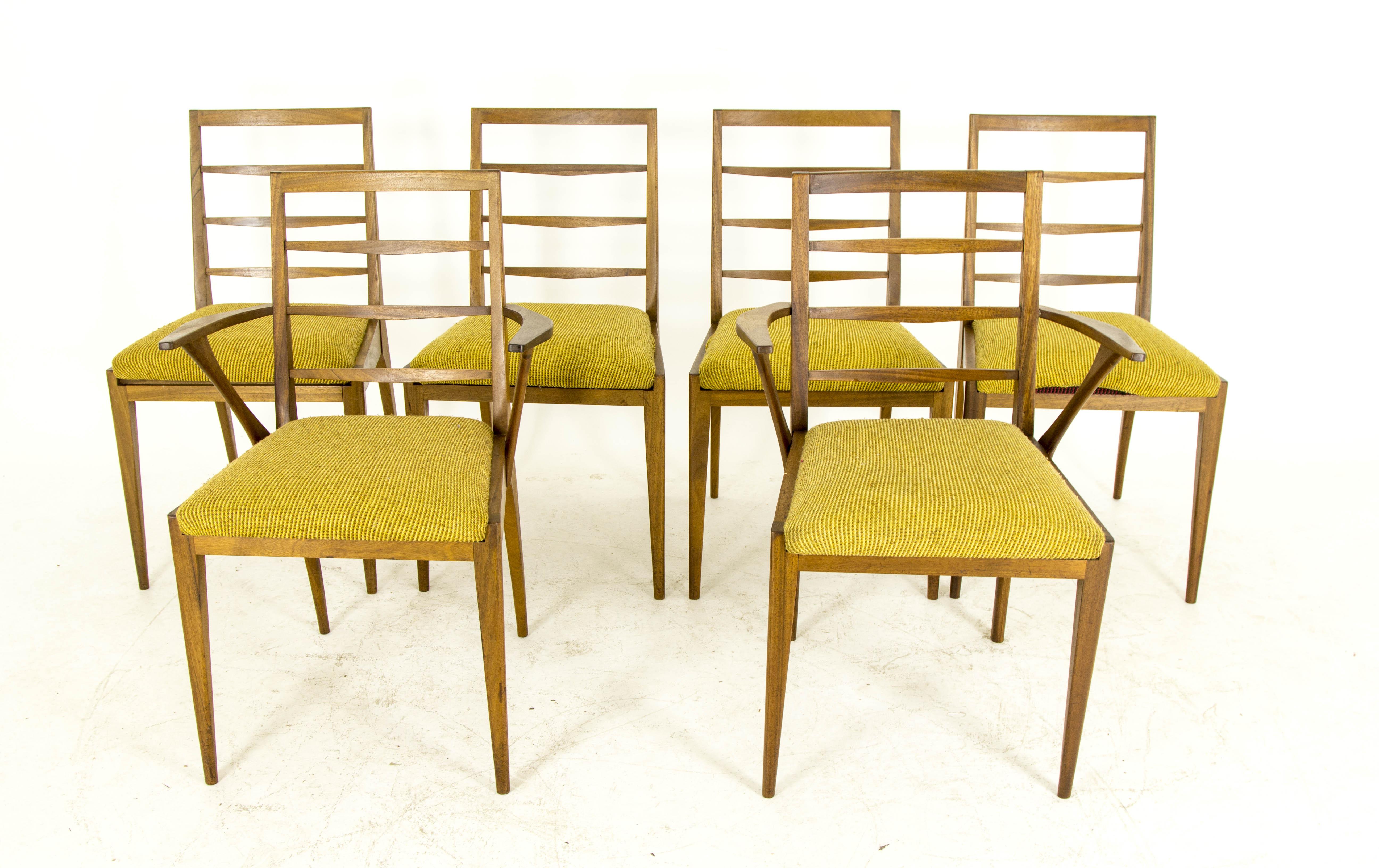 Six teak dining chairs mid century modern by g