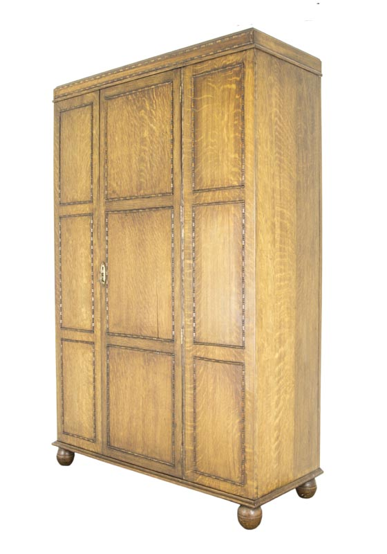 Antique Armoire, Tiger Oak Armoire, Antique Furniture Armoire, Scotland  1920, B474 - Antique Furniture Armoire, Antique Armoire, Scotland 1920, B474