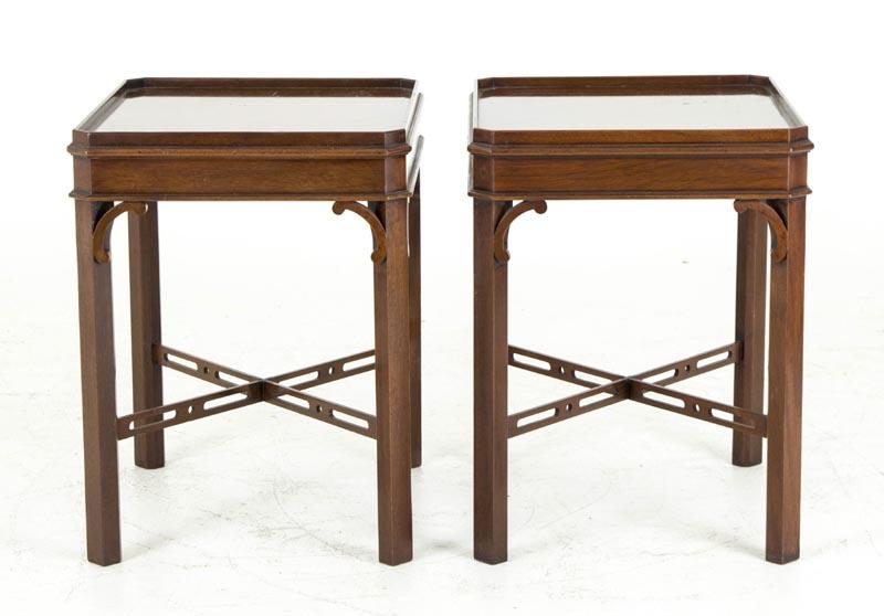 b511 pair of georgian style mahogany end tables sofa tables lamp tables - Antique Mahogany End Tables