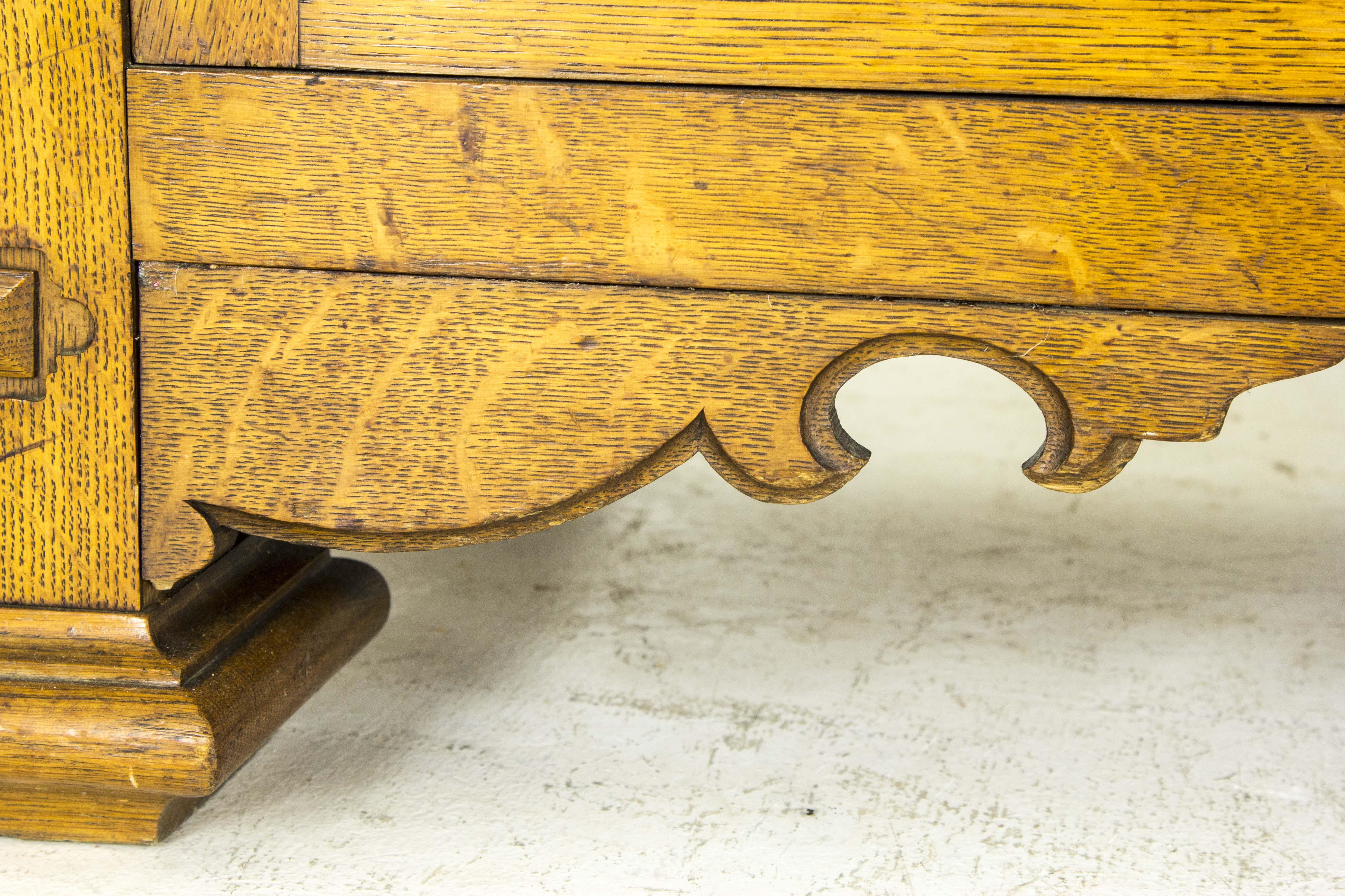 antique oak sideboard, oak sideboard, french oak sideboard, art ...