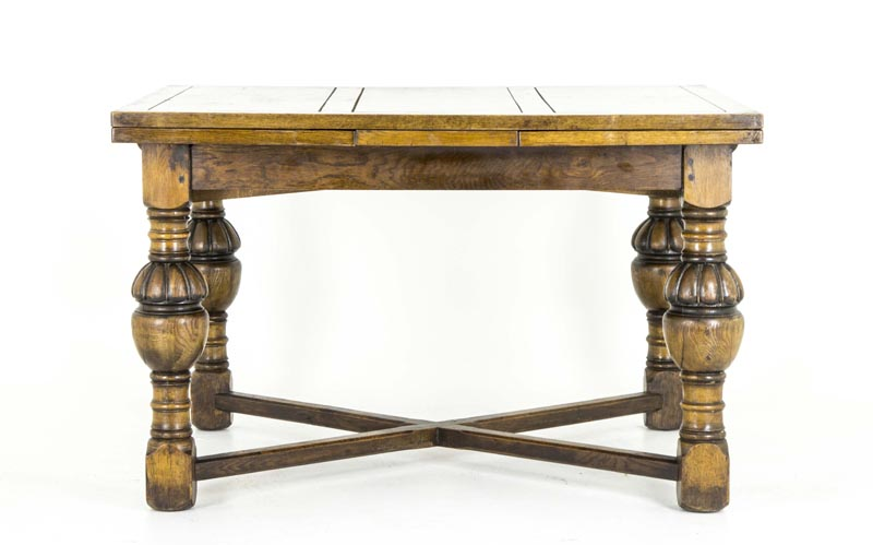 Oak Refectory Table | Antique Scottish Table | Draw Leaf Table, Pub Table |  B551