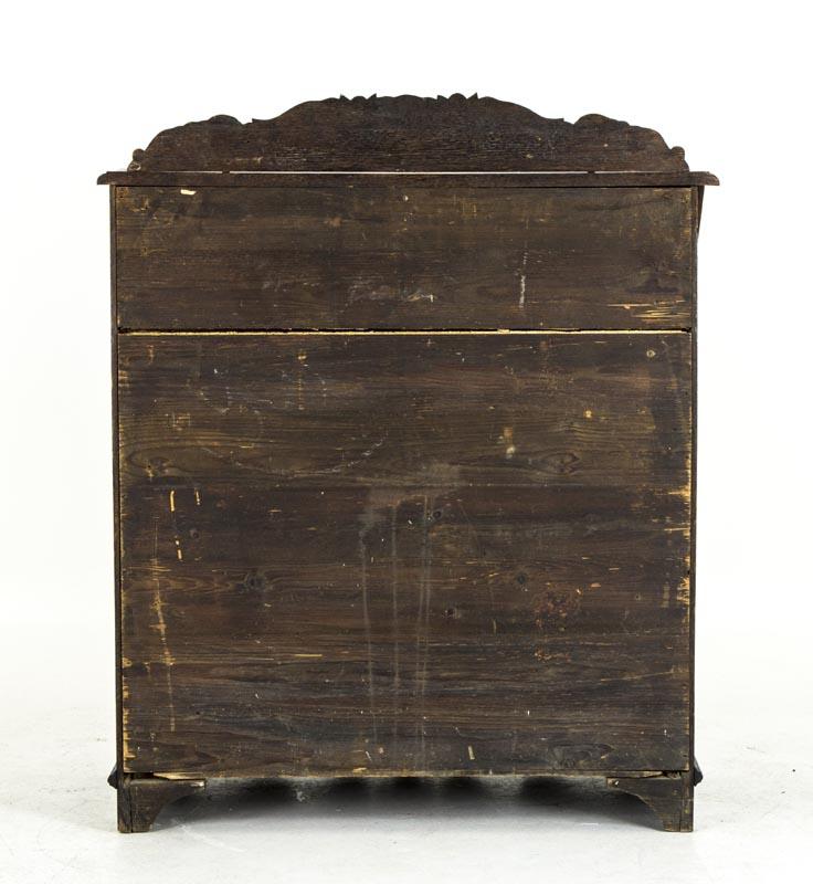 Antique Desk | Slant Front Oak Bureau | Scottish Gothic Carved Desk | B563 - Antique Desk Slant Front Bureau Scottish Gothic Carved Desk B563