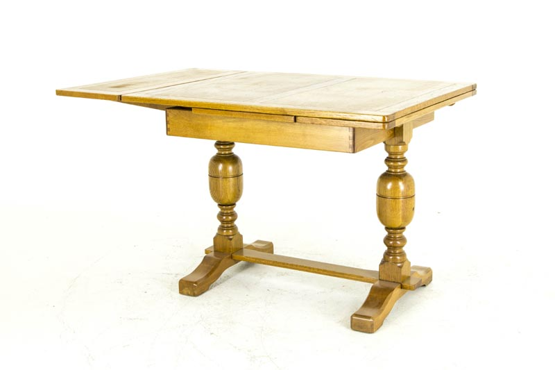 B675 Antique Scottish Oak Refectory Table, Draw Leaf Table, Kitchen Table,  Pub Table With 2 Leaves   Heatherbrae Antiques