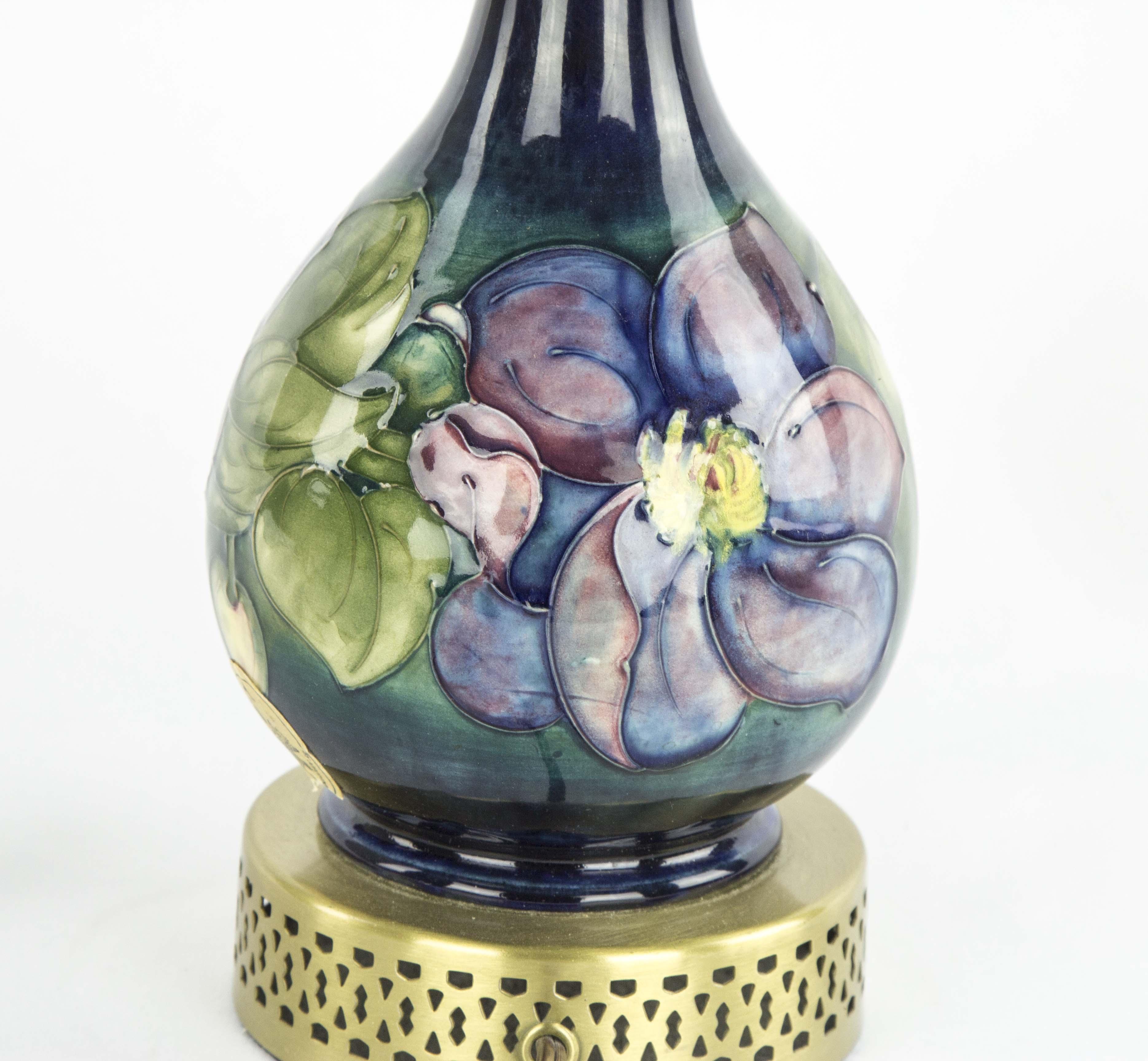 Moorcroft table lamp cobalt blue moorcroft table lamp william moorcroft table lamp aloadofball Images
