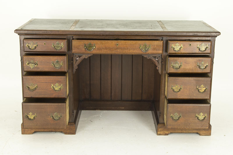 antique desk - Antique Desk, Antique Pedestal Desk, Vintage Desk, Vintage Pedestal Desk