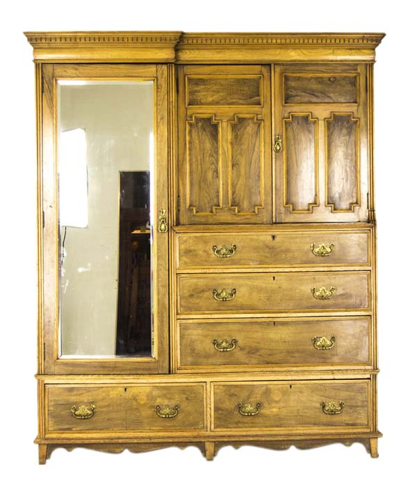art nouveau b743 wardrobe 01 heatherbrae antiques. Black Bedroom Furniture Sets. Home Design Ideas