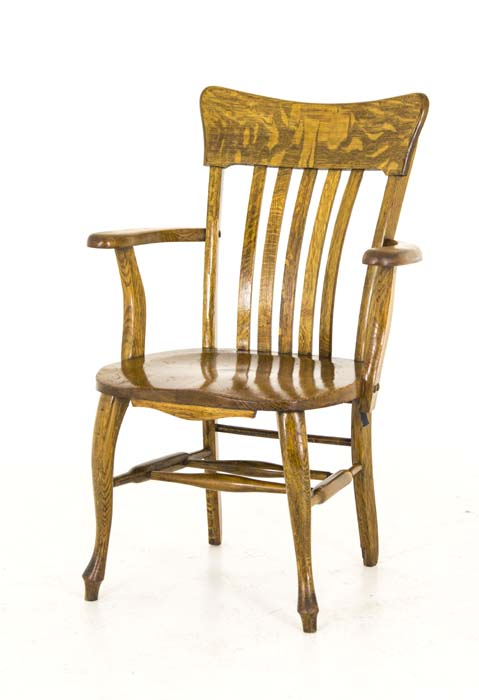 antique chair · Antique bankers chair - Antique Wooden Bankers Chair Mission Tiger Oak America, 1920