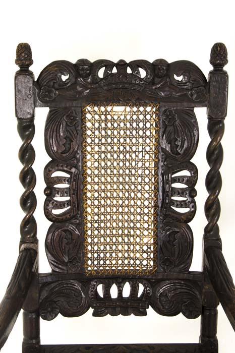 antique walnut chairs - Antique Chairs Jacobean |Barley Twist 2 Arm Chairs Scotland, 1880