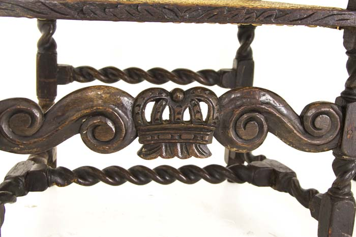 barley twist chairs - Antique Chairs Jacobean |Barley Twist 2 Arm Chairs Scotland, 1880
