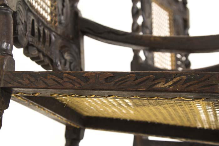 Cane Walnut Chairs