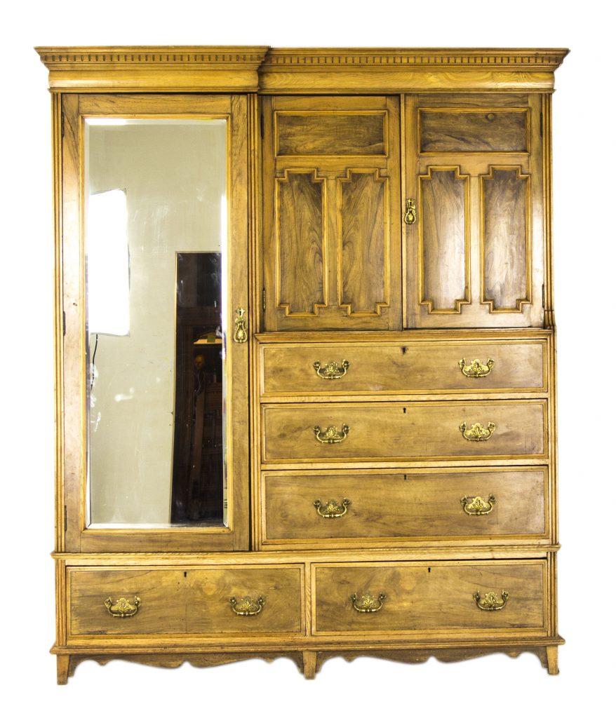 Antique Armoire | Vintage Wardrobe | Large Victorian Ash ...