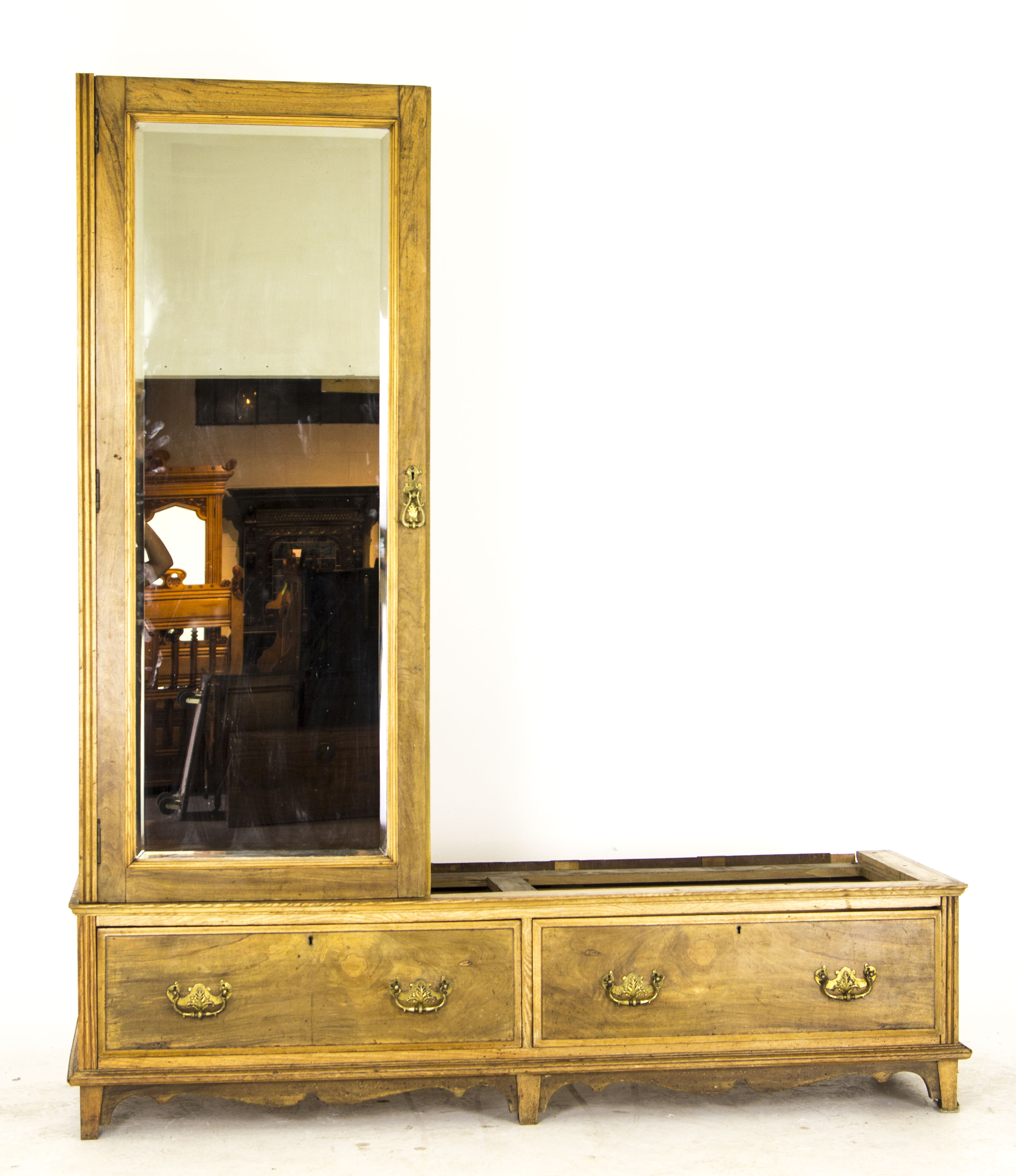Antique Armoire | Vintage Wardrobe | Large Victorian Ash Armoire | B718