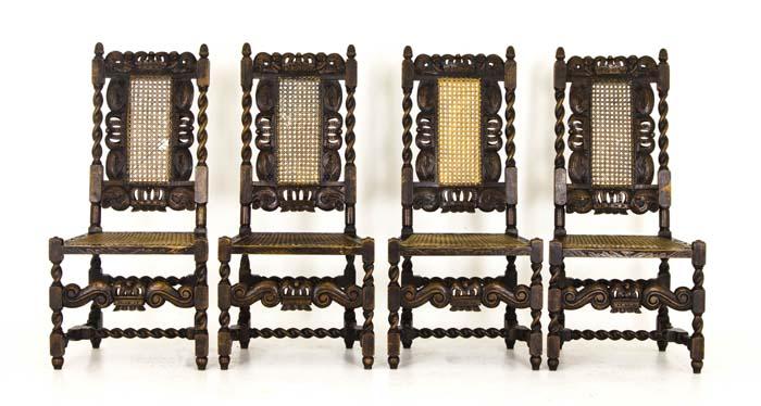 Antique Chairs   Jacobean   Barley Twist   4 Chairs   Scotland  1880   B756. Antique Chairs   Jacobean  Barley Twist   4 Walnut Chairs