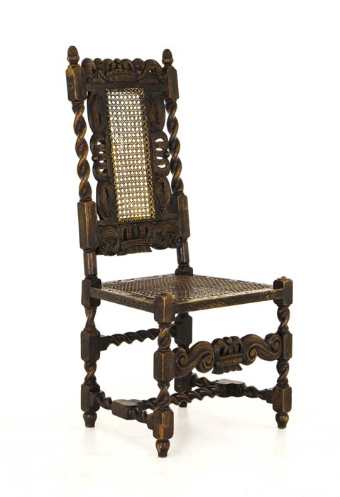 carved chairs - Antique Chairs Jacobean |Barley Twist 4 Walnut Chairs Scotland