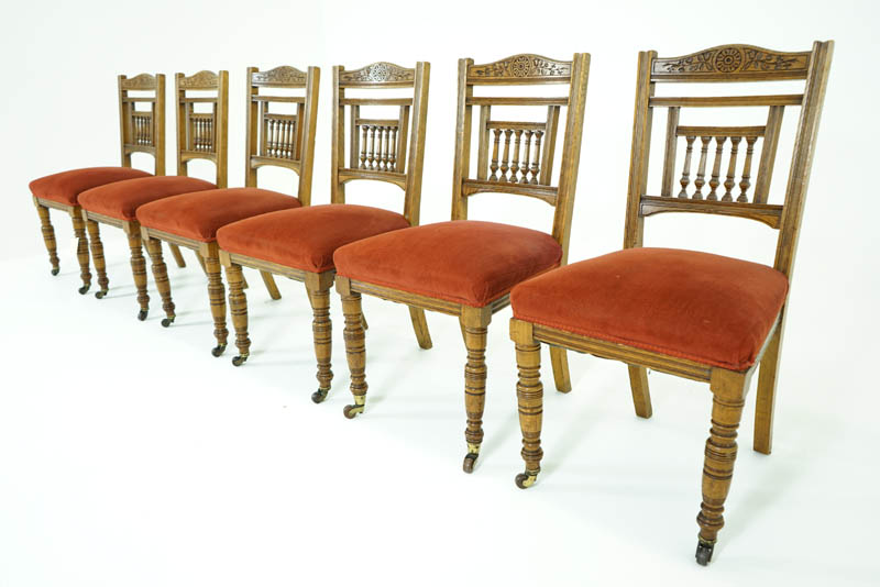 victorian dining chairs - Antique Dining Chairs Oak Dining Chairs Victorian, 1890 B779