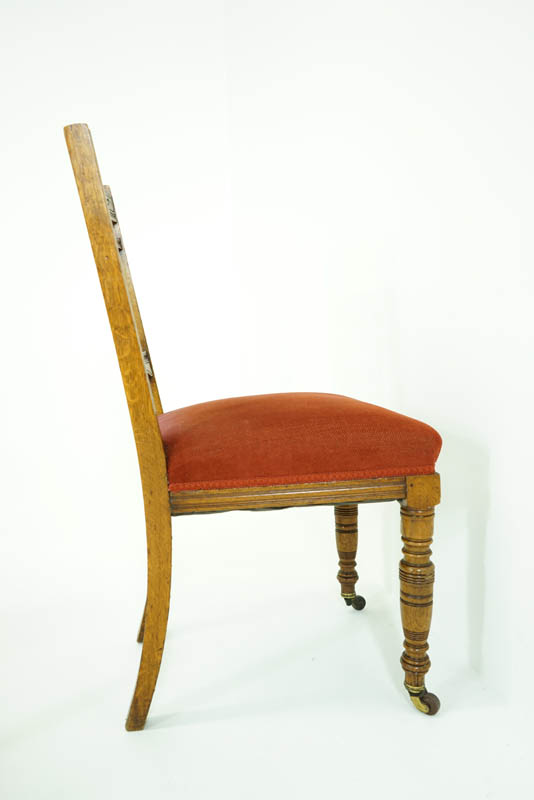 antique dining chairs - Antique Dining Chairs Oak Dining Chairs Victorian, 1890 B779