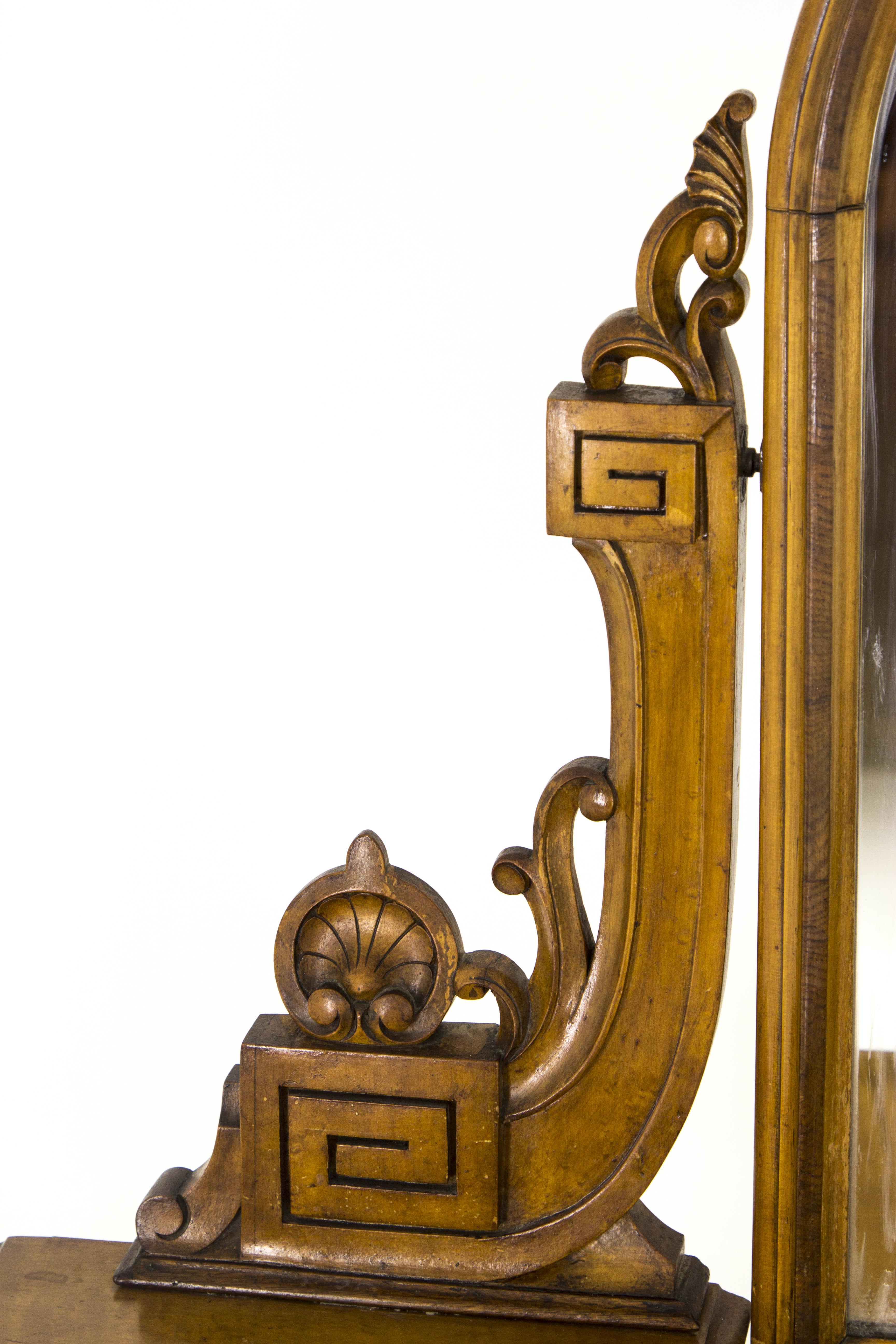 Antique mirrored dressing table - Antique Dresser