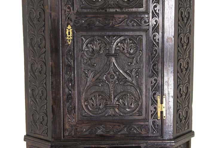 carved oak corner cabinet - Corner Cabinet Antique Oak Cabinet Victorian Cabinet Scotland