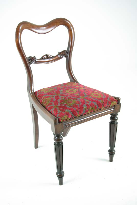 antique dining chair - Antique Dining Chairs Carved Back Chairs |Scottish Regency,1830 B607