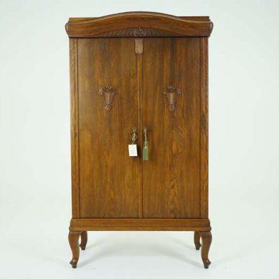 Antique Cabinet | Antique Oak Cupboard | 2 Door Danish Oak Cabinet | B788 - Secretary Desk Oak Bookcase Scotland 1910 B742A