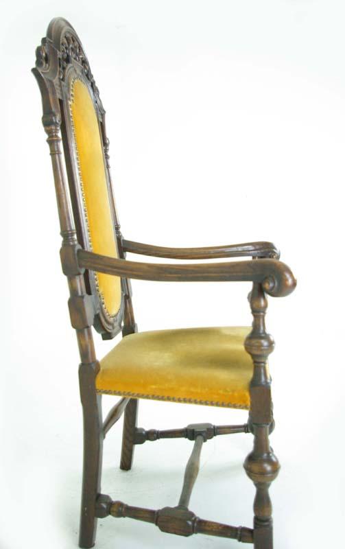 Antique Arm Chair   High Back Arm Chair   William and Mary Chair    Scotland, 1920   B799 - Antique Arm Chair William And Mary Chair Scotland, 1920 B799