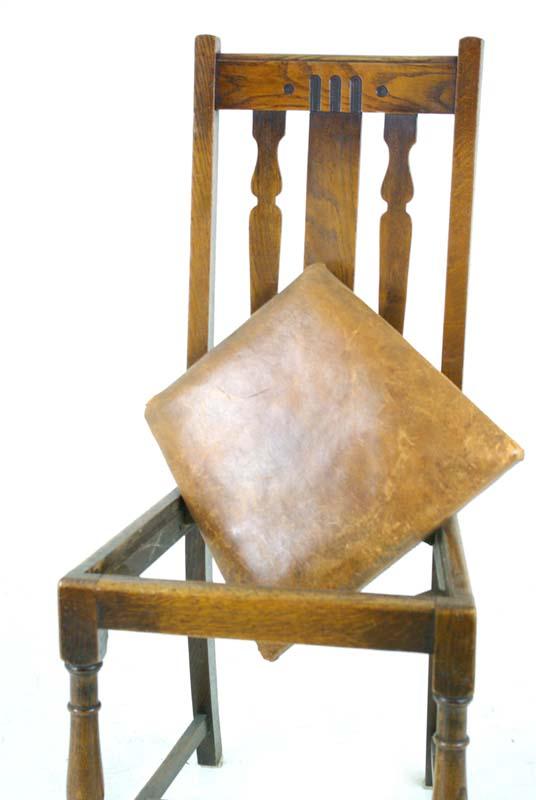 antique dining chairs - Antique Dining Chairs Solid Oak Dining Chairs Scotland, 1920's