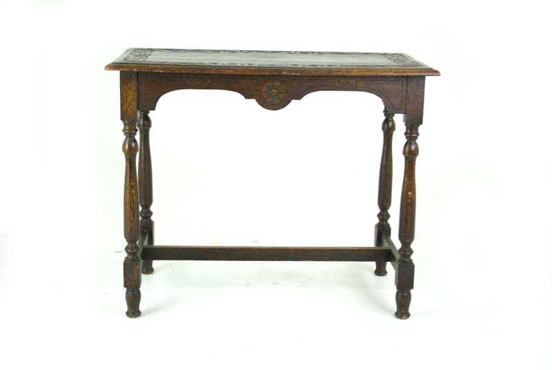 Carved oak hall table victorian table sofa table b809 for Sofa table victorian