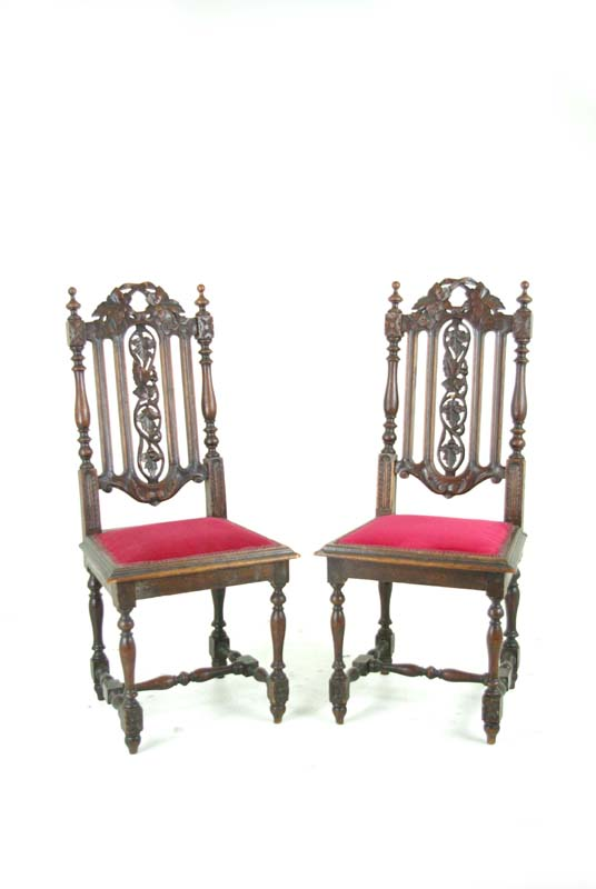 antique hall chairs - Two Antique Hall Chairs Victorian Hall Chairs Scotland, 1880 B763