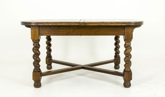 Conference Table Antique Dining Table Solid Oak Table B - Antique conference table