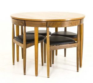 ... Teak Dining Chairs That Nestle Mid_century_modern_dining_