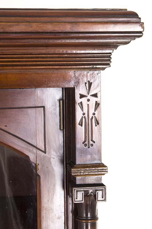 Eastlake Bookcase | Antique Display Cabinet | Victorian Walnut | B813