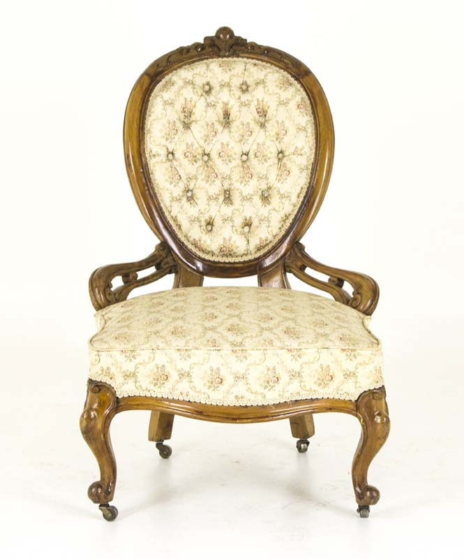 antique parlor chair - Antique Parlor Chair Victorian Walnut Chair Scotland, 1870 B806