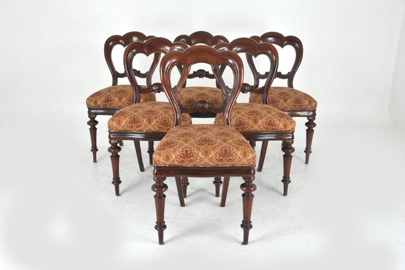 - Balloon Back Dining Chairs Antique Mahogany Scotland, 1860 B830