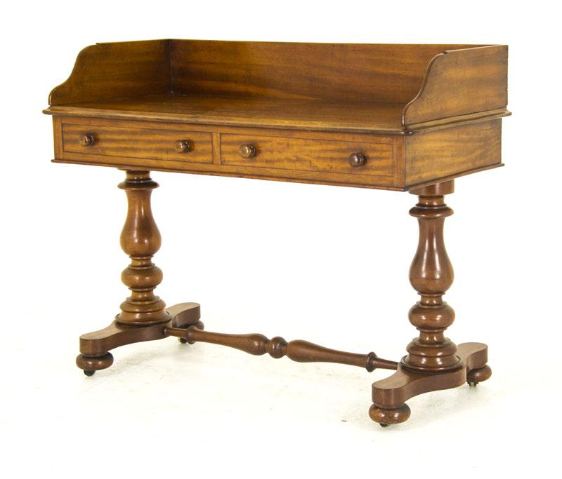 mahogany desk - Antique Victorian Library Desk Mahogany Writing Table B752