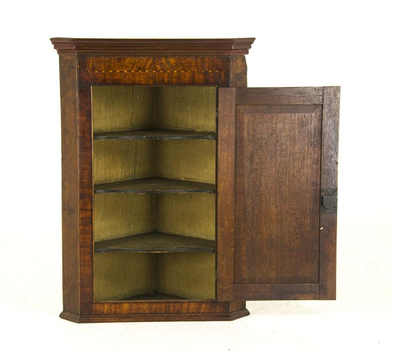 ANTIQUE CORNER CABINET - Antique Corner Cabinet Georgian Cabinet Scotland, 1790 B827