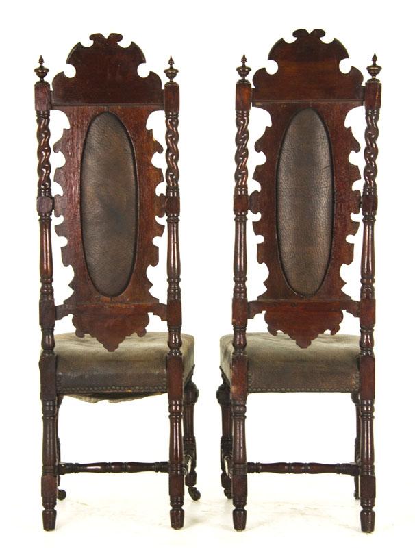 renaissance revival - Antique Hall Chairs Renaissance Revival Scotland, 1880 B825