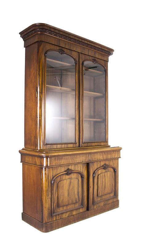 antique bookcase - Antique Bookcase Mahogany Display Cabinet Scotland, 1860 B901
