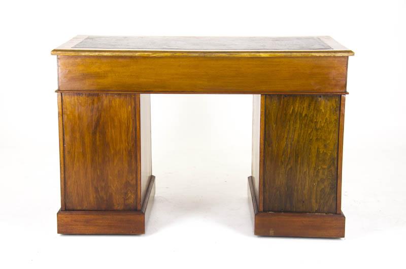 - Antique Desk, Pedestal Desk, Leather Top Desk, Scotland 1880, B926